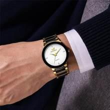 Reloj de pulsera de acero inoxidable para Hombre, cronógrafo de cuarzo, deportivo, con horario Geneva, 2020