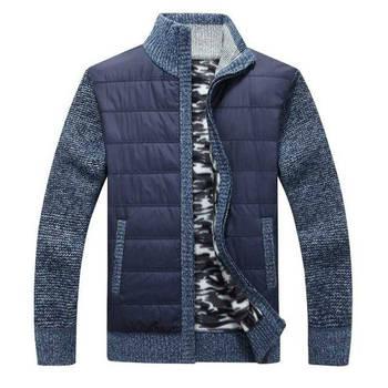 Nouveauté automne hiver chandail hommes mode Patchwork col roulé à manches longues Cardigan hommes épais chaud polaire tricoté