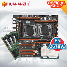 HUANANZHI X99 F8D X99 Motherboard Intel Dual  with Intel XEON E5 2678 V3*2 with 4*32GB DDR4 RECC  memory combo kit NVME USB 3.0