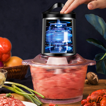Automatic Stainless Steel Meat Grinder Multifunction Powerful Mincer Food Processor Electric Chopper Cocina Kitchen Tool MM60JRJ 3