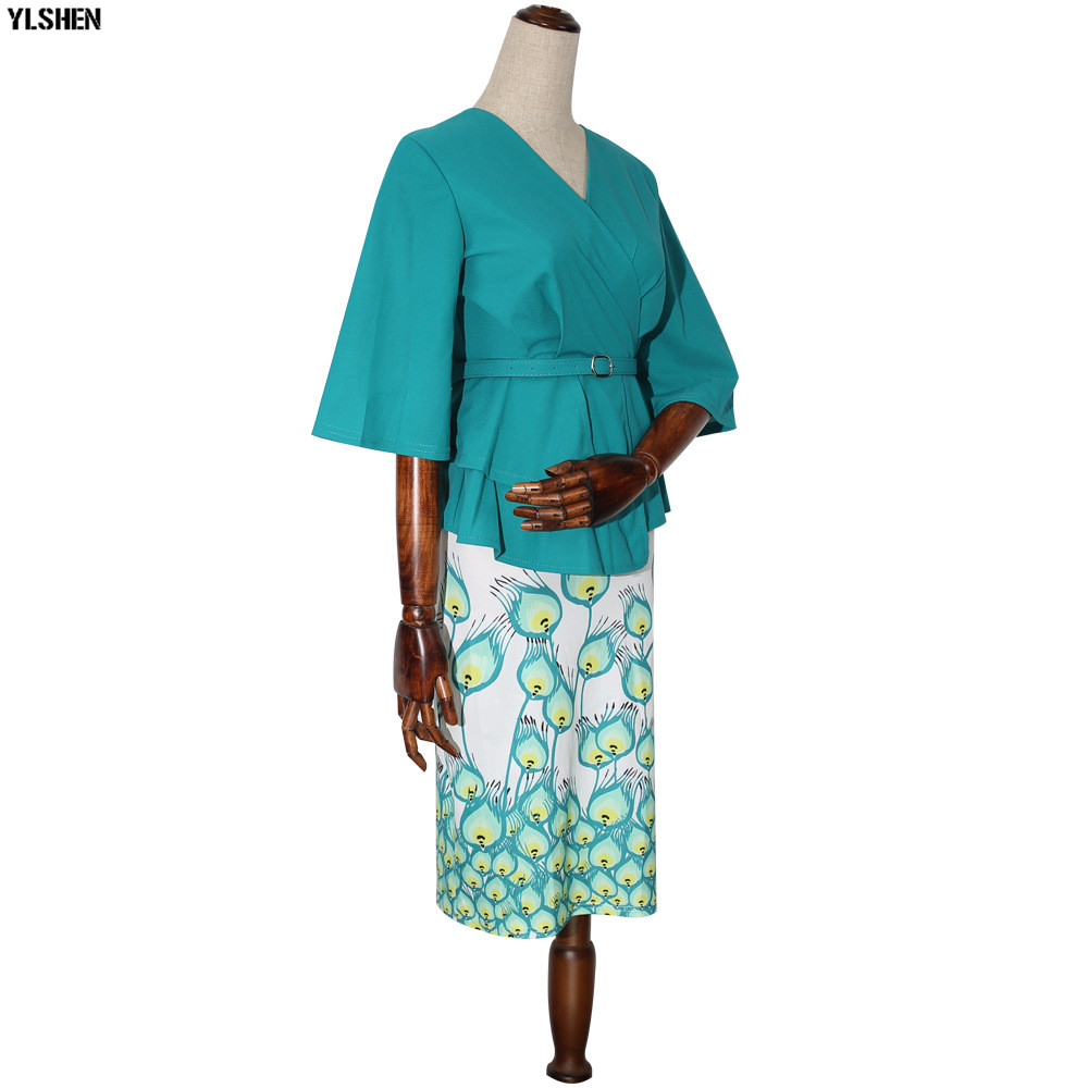 New Style African Dresses for Women Dashiki Print African Skirt Clothes Ankara Dress Bazin Rich Robe Boubou Africaine Femme 2019 05