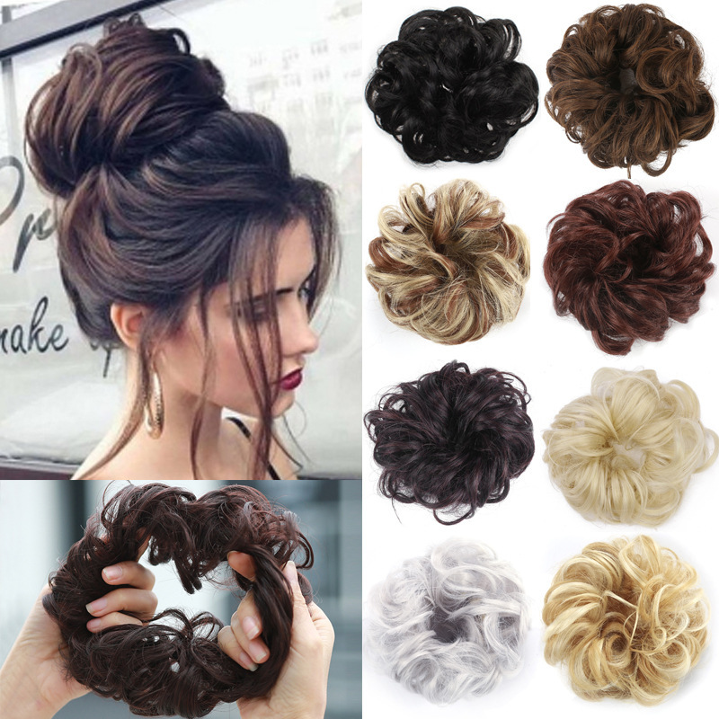 Wig Hair Circle Ball Head Wig Elastic Force The Bud Head Wig Flower The