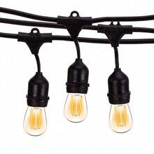 Thrisdar 10M S14 String Licht Mit 10PCS E27 LED Retro Edison Glühlampe Freien Straße Garten Terrasse Urlaub girlande Licht