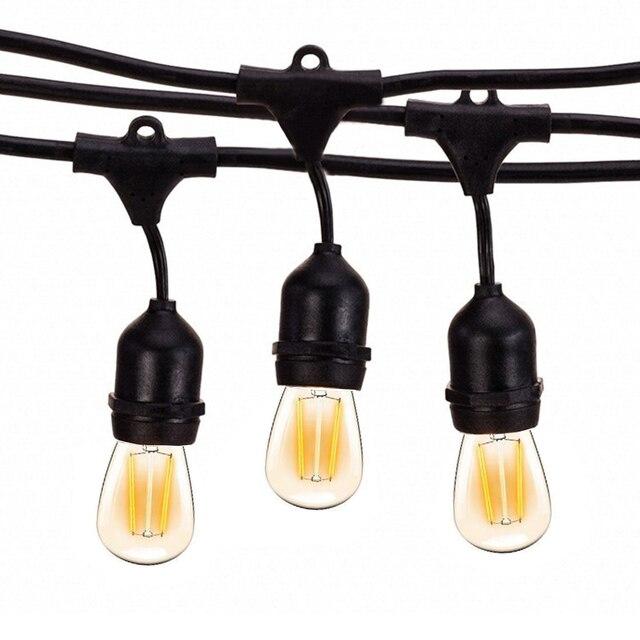 Thrisdar 10M S14 String Light 10PCS E27 LED Retro Edison หลอดไฟกลางแจ้งสวน Patio วันหยุด garland Light