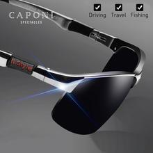 CAPONI Men Polarized Sunglasses Vintage Sport Eyewear for Men Fashion Design Met