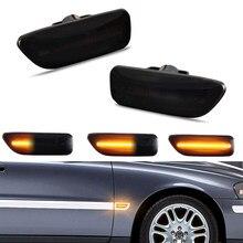 Sequentielle LED Seite Marker Fender Blinker Blinker Lichter Für Volvo XC90 S80 XC70 V70 S60 2001-2009 Canbus fehler Freies