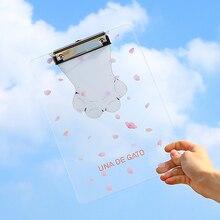 Прозрачный буфер для студентов канцелярские принадлежности A4 папка для файлов милый мультфильм доска для письма акриловая шина офисные школьные принадлежности