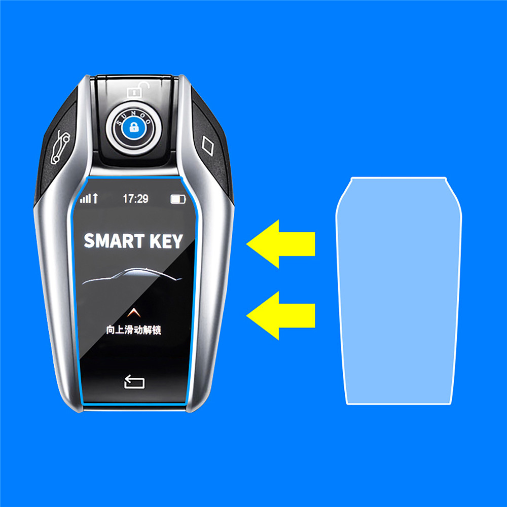 Car Key Digital Touchscreen HD Screen Protective Film for BMW 3/5/6/7 Series Touch Anti-scratch Clear Waterproof