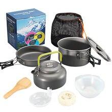Алюминиевый набор для приготовления пищи на открытом воздухе