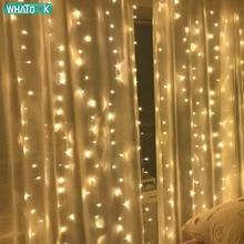 3x3/6x3 м светодиодный занавес сказочные гирлянды 900 светодиодный гирлянда «сосульки» Рождество Крытый Открытый свадебное освещение домашние вечерние украшения для сада