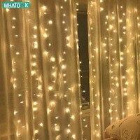 3x3/6x3mled cortina luzes da corda de fadas 900 led icicle guirlanda natal interior ao ar livre iluminação de casamento casa festa decoração do jardim|Fios de LED| |  -