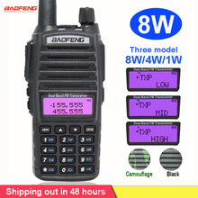 8Wวิทยุแบบพกพาเครื่องส่งรับวิทยุBaofeng UV 82 Dualปุ่มPTTวิทยุVhf Uhf Baofeng UV 82 UV82 Two Wayวิทยุ