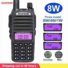 8W Radio Portable talkie walkie Baofeng UV 82 double bouton PTT Radio bidirectionnelle Vhf Uhf double bande Baofeng UV 82 UV82 radio bidirectionnelle
