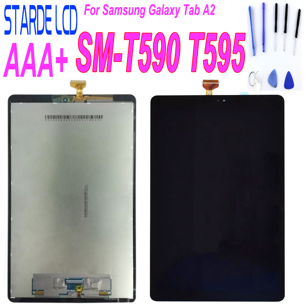 AAA reemplazo LCD para Samsung Galaxy Tab A2 SM-T590 T595 T590 LCD pantalla táctil Panel digitalizador montaje 10,1