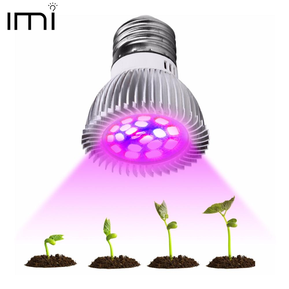 Full Spectrum Cfl LED Grow Light Lampada E27 E14 MR16 GU10 Indoor Plant Lamp Flowering Hydroponics System IR UV Garden 110V 220V
