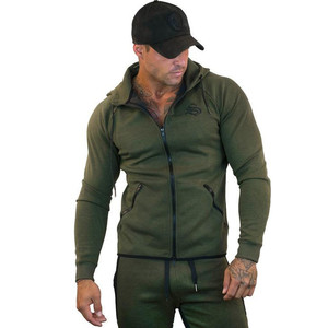 Image 3 - Sportswear Tracksuits Men Sets Running Gym Tracksuit Fitness Body building Mens Hoodies+Pants Jogger Sport Suit Men Clothing