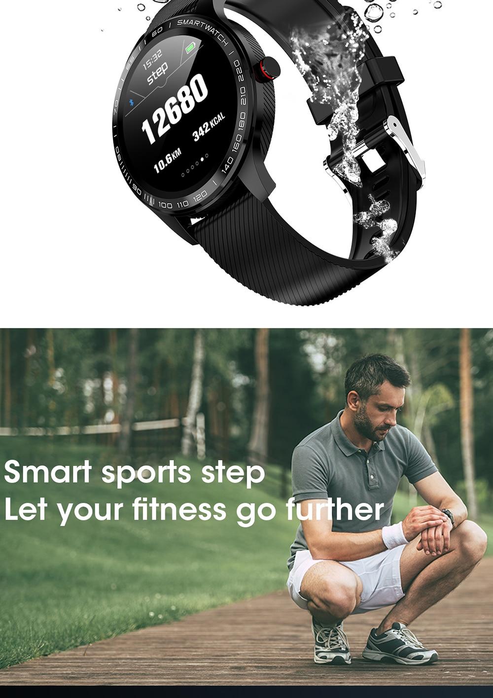 H3f568b7001034fc2920679c5f8889986U 696 L9 Full touch Smart Watch Men ECG+PPG Heart Rate Blood Pressure oxygen Monitor IP68 Waterproof Bluetooth Smart Bracelet
