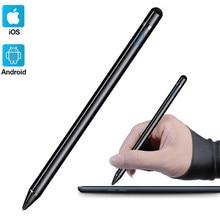 Универсальный стилус для Apple iPad, активный стилус, карандаш, емкостный экран, настольные сенсорные ручки для Apple Pencil 1 2 + держатель, перчатка