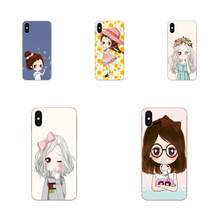 Cartoon Little Lovely Girl Minimalist Case For Huawei P7 P8 P9 P10 P20 P30 Lite Mini Plus Pro Y9 Prime P Smart Z 2018 2019(China)