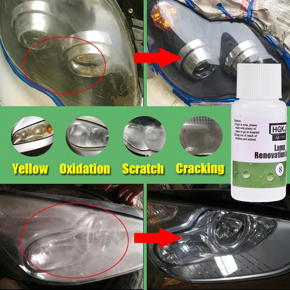 20/50ML HGKJ-8 Car Headlight Restoration Kit Auto Headlight Repair Refurbishment Agent Fluid Car Polishing Car Care 2019 New
