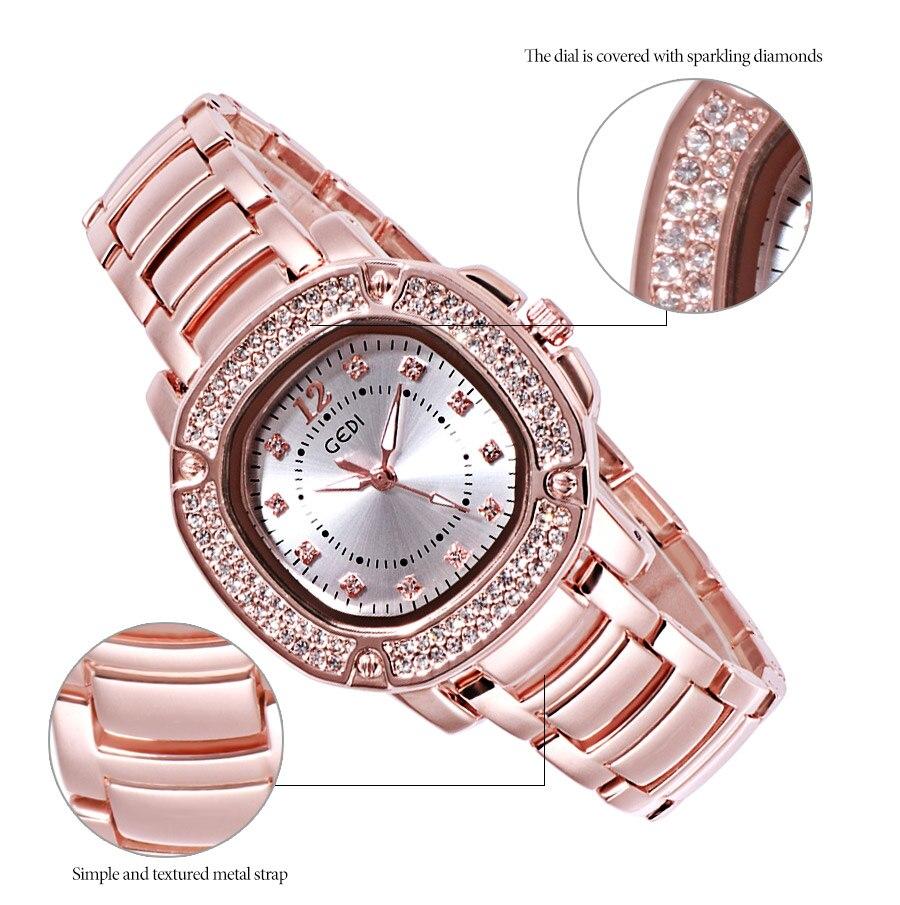 relógios de luxo strass senhoras quartzo relógios