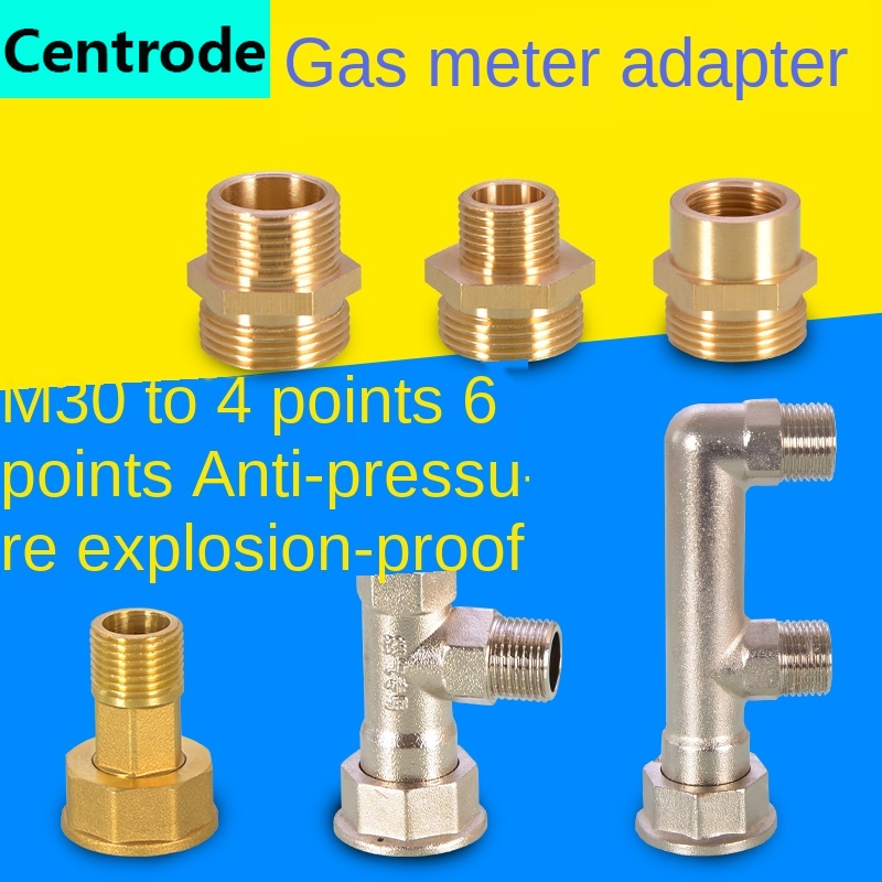 Pipe Fittings The Gas Meter Is Suitable For M30 To 1/2IN 3/4IN Conversion Adapter Gas Meter Union Joint  Accessories