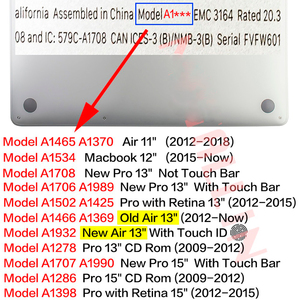 Image 5 - حافظة صلبة للحاسوب المحمول عالية الدقة لهواتف ماك بوك اير برو ريتينا 12 13 15 16 15.4 13.3 بوصة مع غطاء لوحة مفاتيح لهواتف اير A1466 A1932 2018