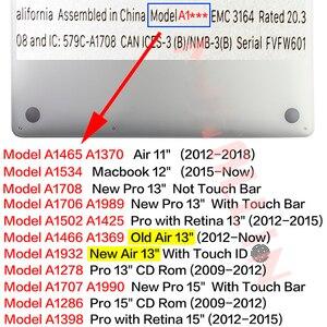 Image 5 - Hdパターンのラップトップのmacbook air proの網膜12 13 15 16 15.4 13.3インチキーボードカバー空気A1466 A1932 2018