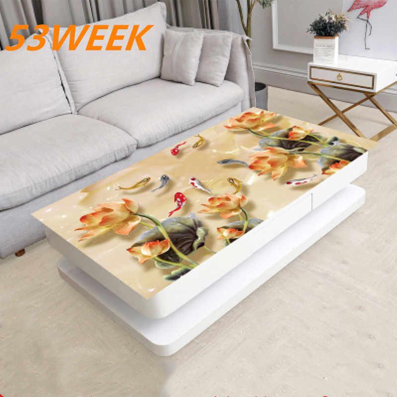 home fabric coffee table cloth pvc