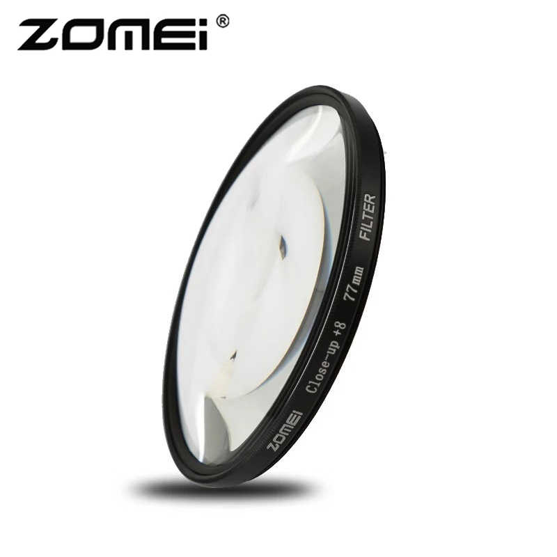 Zomei macro, vidro óptico para fechar, filtro de lente + 1 + 2 + 3 + 4 + 8 + 10 filtro da câmera 40.5/49/52/55/58/62/67/72/77/82mm para dslr slr