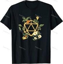 Geeky Polyhedral D20 набор игральных костей, футболка Nerdy