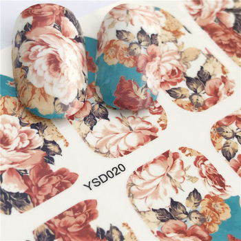 цена на YZWLE 1 Sheet Big Chry Flower DIY Decals Nails Art Water Transfer Printing Stickers Accessories For Manicure Salon