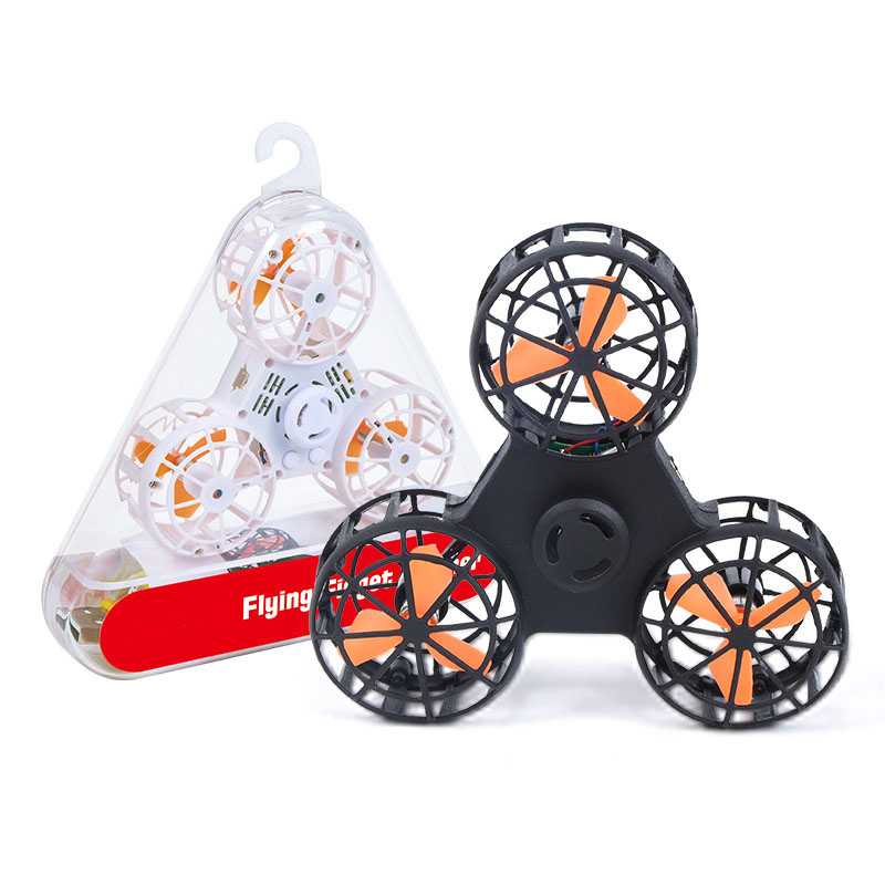 flying fidget spinner Mini Drone Finger Autism Anxiety Stress Release fly spiner Boomerang Toy Funny game Gift Toys(China)