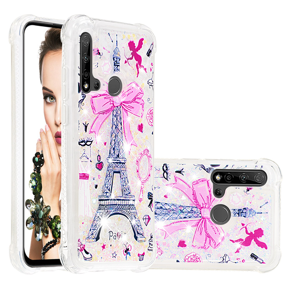 Liquid Quicksand Soft TPU Phone Cases For Huawei P20 lite Mate 30 Lite Nova 5i Nova 5i Pro Cover Glitter Bumper Funda Coque Gift in Fitted Cases from Cellphones Telecommunications