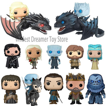 FUNKO POP Game of Thrones Night's King Jon Snow Drogon Action Figure Collectible vinyl Model Christmas Toys for Children Gifts 18cm japanese game rage of bahamut mystere action figure collectible model toys for boys