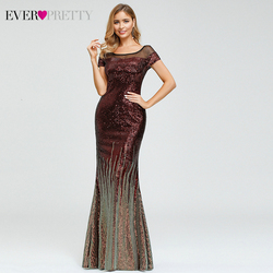 Benutzerdefinierte Luxus Abendkleider Immer Ziemlich EP00884 Cap Sleeve Striped Pailletten Sexy Arabisch Mermaid Party Kleider Dluga Sukienka