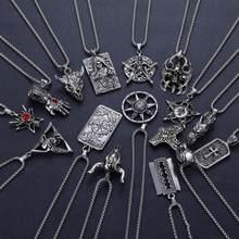 2020 ocidental vintage hip-hop simples pingente colar titânio liga de aço pingente colar na moda jóias masculinas