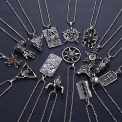 2020 Western Vintage Hip-hop Plain Pendant Necklace Titanium Steel Alloy Pendant Necklace Trendy Male Jewelry