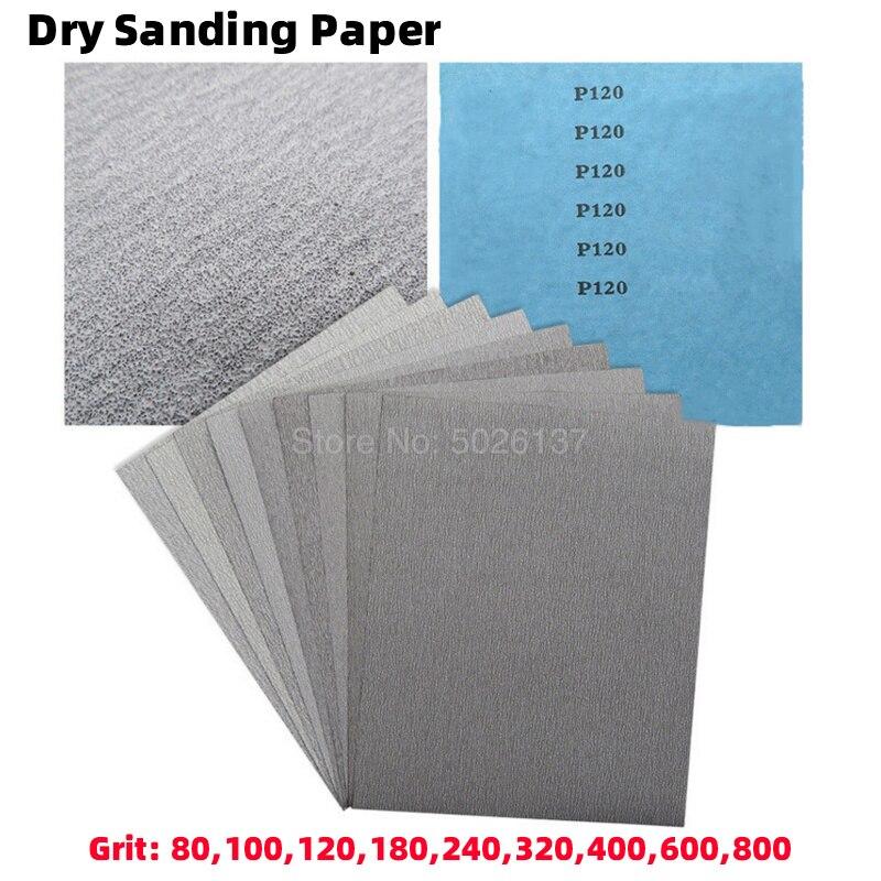 1Pcs 80-800Grit Square Anti-clog Ging Dry Sandpaper Sand White Metal Grinding Polishing Paper Cloth Amber Bodhi Wood