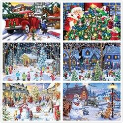 1000Pcs Kerst Puzzel Speelgoed Decoratie Volwassen Kinderen Decompressie Speelgoed Verjaardagscadeau Puzzel Spel Speelgoed Kerst Puzzel