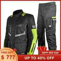 Freies Lieferung Motoboy touring motorrad schutz 3 schicht jacke & hose anzug hohe sichtbare weste und wasserdichte und warme liner