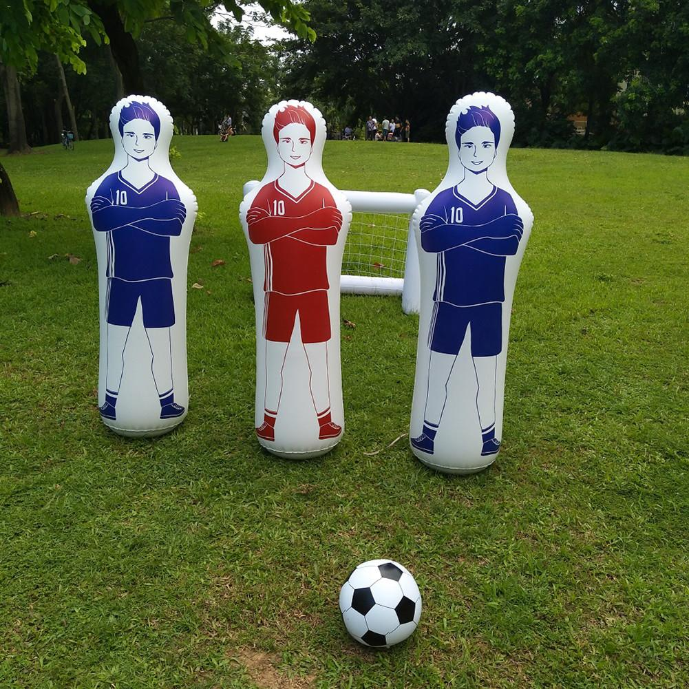 1.6m Adult Inflatable Football Training Goal Keeper Tumbler Air Soccer Train Dummy Tool PVC Inflatable Tumbler Wall Football 4