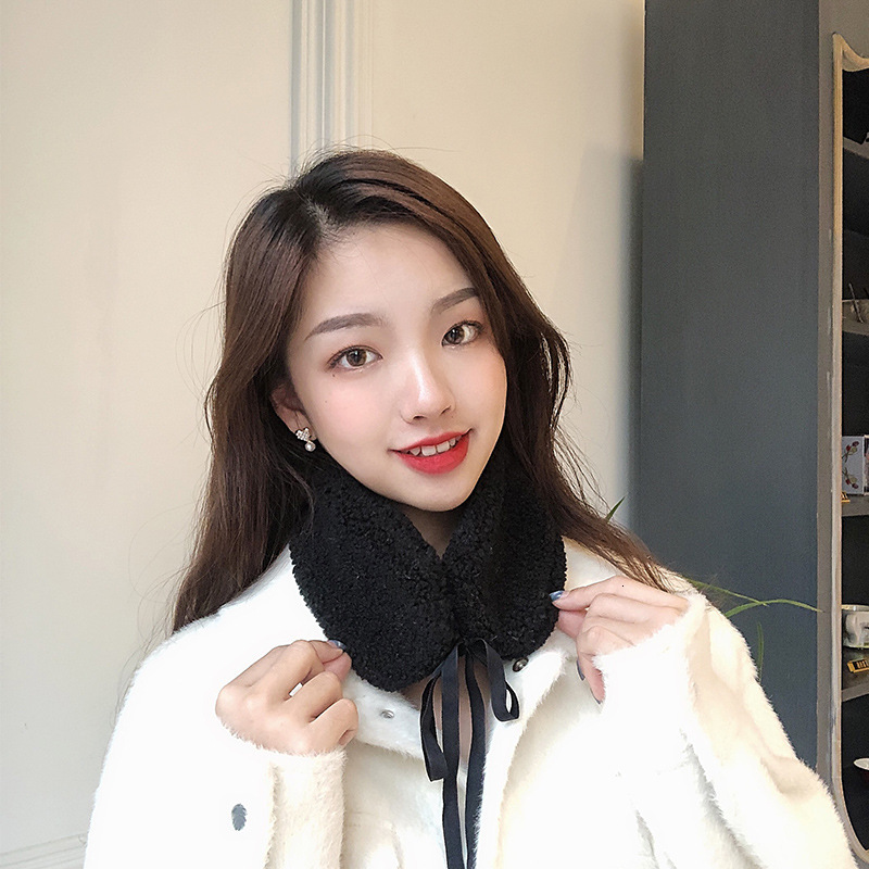 Lovely Women Ear Muffs Winter Spring Fleece Warm Earmuffs Kawaii Furry Ear Warmer Neck Scarf Female Students Earmuff Streetwear