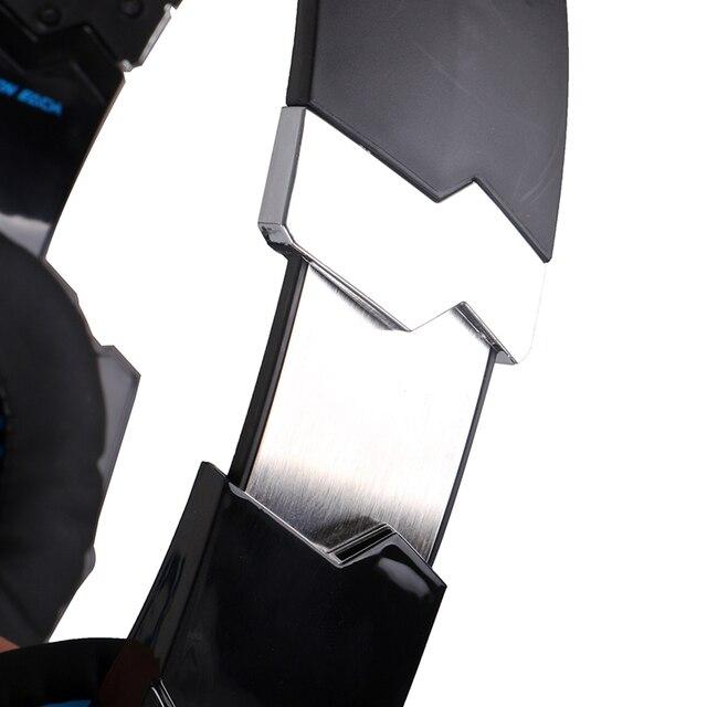 Kotion Jeder Gaming Headset 7,1 USB Surround Sound PC Headset Gamer 7,1 Gaming Kopfhörer Für Computer Mit Mikrofon LED Licht