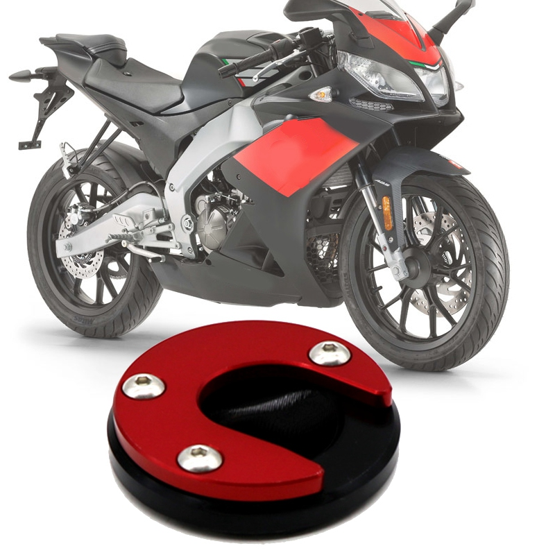 Red Motorcycle Accessories Foot Side Stand Bike Kickstand Pad For Ducati Scrambler 800 2014-2018