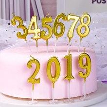Розовые золотые свечи для украшения торта на день рождения, украшения торта из розового золота, топпер для торта на день рождения, свечи для детского душа, принадлежности для дня рождения