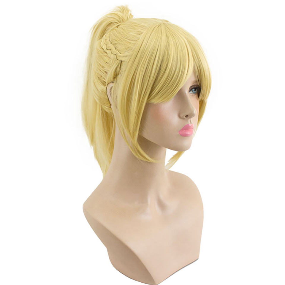 DIFEI Cosplay Halloween Party Game Anime Fate / Apocrypha Mordred High Temperature Resistant Fiber Synthetic Wig Realistic