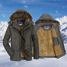 Mens High Quality Winter Jacket Coat Hooded Fleece Men Overcoat Casual Windbreaker Thick Warm Male Parka Outerwear Big Size 7XL