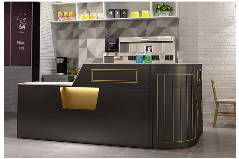 Modern Simple Milk Tea Shop Cashier Beauty Salon Counter Light Luxury Clothing Store Reception Front Desk Cafe Bar Table