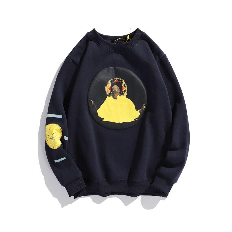 Флисовая Толстовка Kanye West в стиле оверсайз для мужчин и женщин, Свободный Повседневный свитшот в стиле хип-хоп, худи Кенделл, «очень странные...